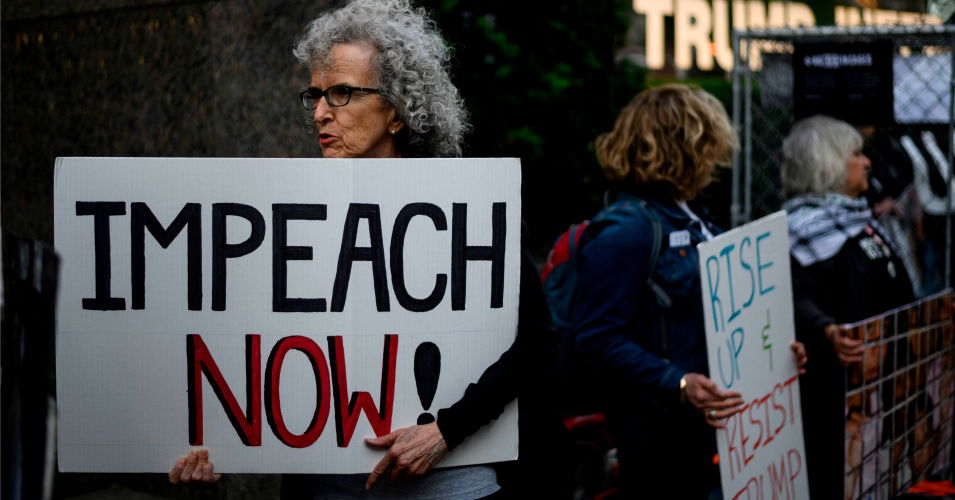 Trump protesters call for his impeachment