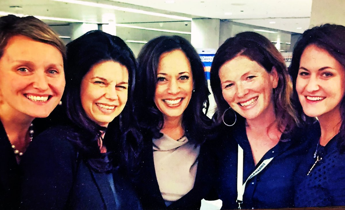 "Kamala's ""squad"" - Suzy Loftus Twitter Post of Loftus, Buffy Wicks, Debbie Mesloh, Kamala Harris and a friend"