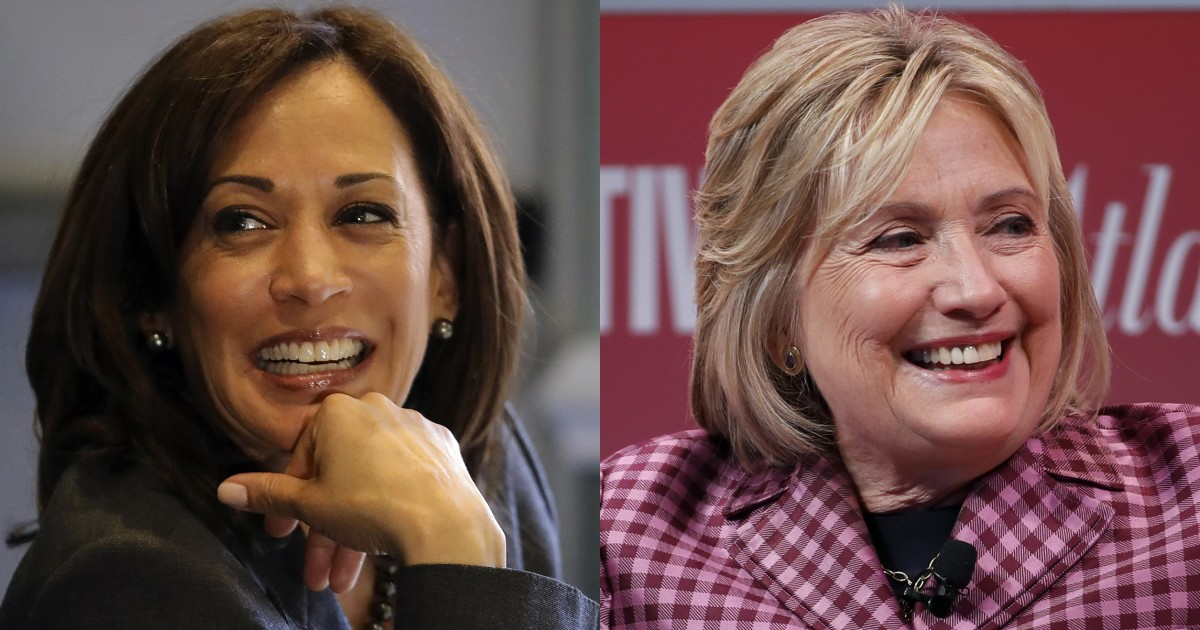Kamala Harris and Hillary Clinton