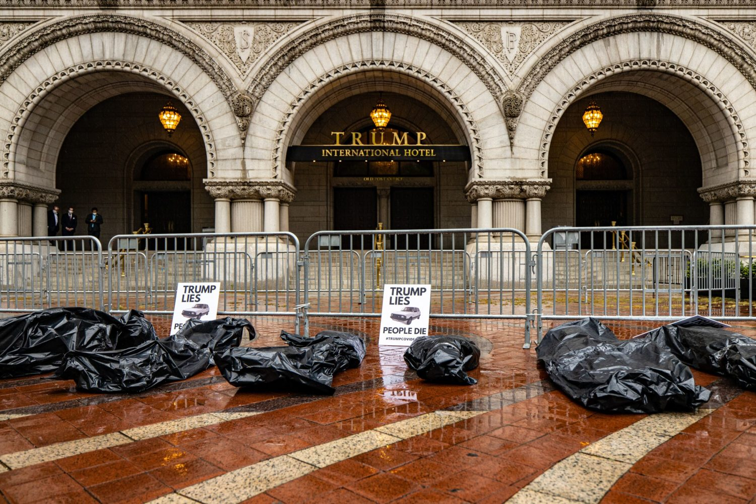 Body Bag demonstration outside Trump International Hotel in Northwest D.C
